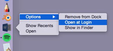 arrêter les applications de l'ouverture automatique